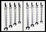 Wallpeg Garage Tool Organizer - Plastic Pegboard Hooks 50 pk.... 25 J & 25 L Flex-Lock Peg Hooks -AM 50 B by WallPeg
