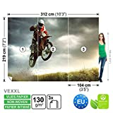 FORWALL Vlies Fototapete Tapete Vliestapete Dekoshop Motocross Jungen Teenager ADW1249VEXXL (312cm x 219cm) Photo Wallpaper Mural