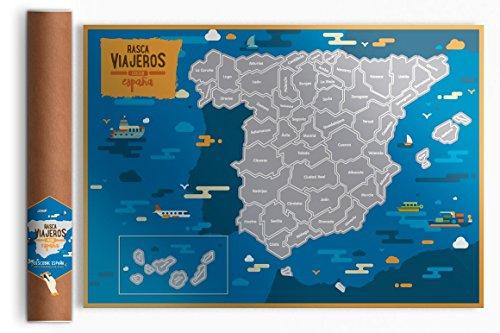 Rasca Viajeros Mapa rascable España