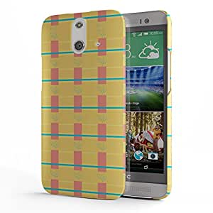 Koveru Designer Printed Protective Snap-On Durable Plastic Back Shell Case Cover for HTC One E8 - Green leaf floral