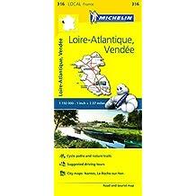 Loire-Atlantique, Vendee Michelin Local Map 316 (Michelin Local Maps) by Michelin (2016-04-30)