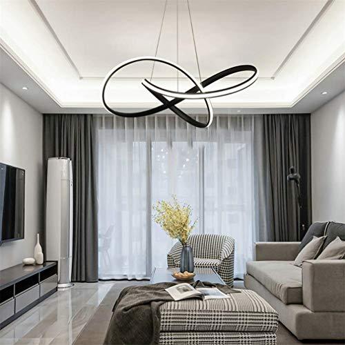 LY-JFSZ Luces LED Colgante, Negro lámpara de Comedor lámpara del ...