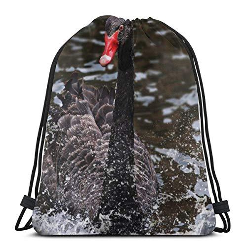 Cap pillow Blackbird Bird Sing Custom Drawstring Shoulder Bags Gym Bag Travel Backpack Lightweight Gym for Man Women 16.9