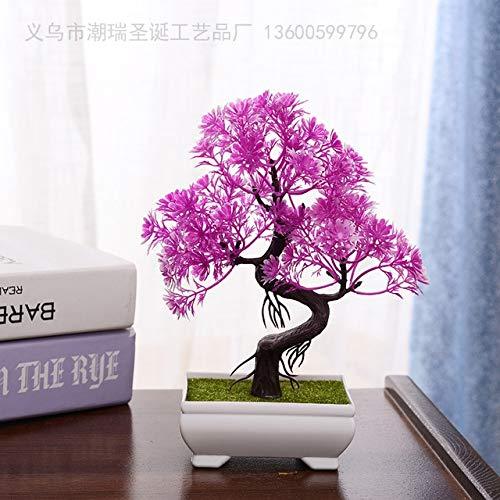 Tomhy artificiale pianta bonsai albero finto bonsai albero in vaso arredi per uffici home alberi artificiali per la decorazione domestica bonsai artificiale: 11