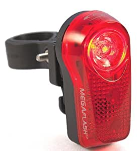 Sport DirectTM Bicycle Bike 0.5W MegaBeamTM LED 3 Diode Rear Light CE Approved by Sport DirectTM