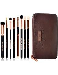 Party Queen Schönheit Kosmetik-Pinsel, Rosa Goldene Pro Pinsel Make-up Eyeshadow. Bürsten Lidschatten Kosmetiktasche + Make-up für Staubsaugerbeutel