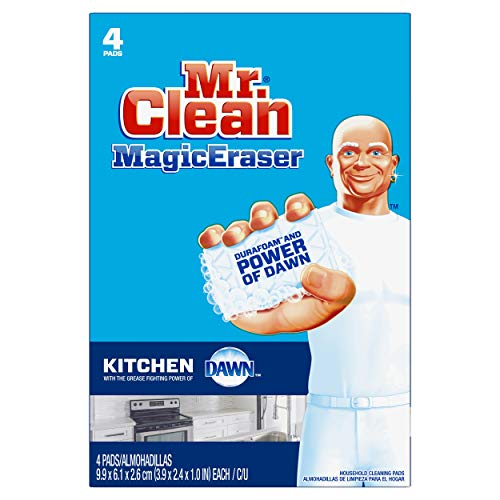 Mr. Clean Magic Eraser Kitchen and Dish Scrubber, 4 Count by Mr. Clean