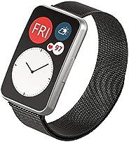 سوار ميلانو بديل من Dado متوافق مع ساعة Huawei Fit Watch ، حزام من الفولاذ المقاوم للصدأ