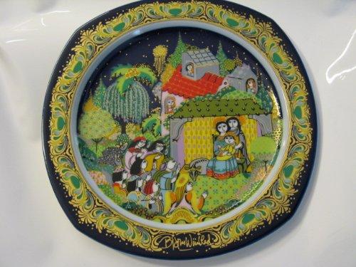 Rosenthal Wandteller -Weihnachtsteller Porzellan Björn Wiinblad von 1983 - Øca. 28,5 cm