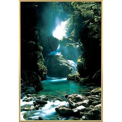 Nueva Zelanda Póster con Marco (Plástico) - Waterfall (91 x 61cm)