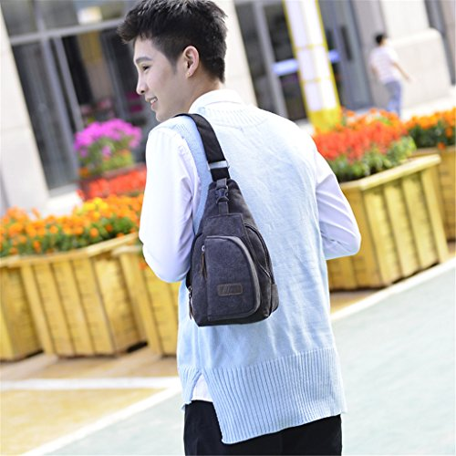 Leinwand Schulter Taschen Brust Tasche Herren Messenger Schultertasche Casual Kleine Umhängetasche Hohe Qualität Schultertasche schwarz