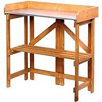 dobar 29053 - Mesa para macetas plegable (madera de pino FSC, plegable, 85 x 44 x 89 cm)