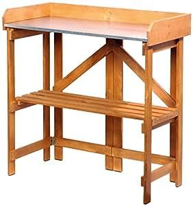 Dobar 29053FSC - Pratico tavolo da giardino in legno di pino certificato FSC, pieghevole, 85 x 44 x 89 cm