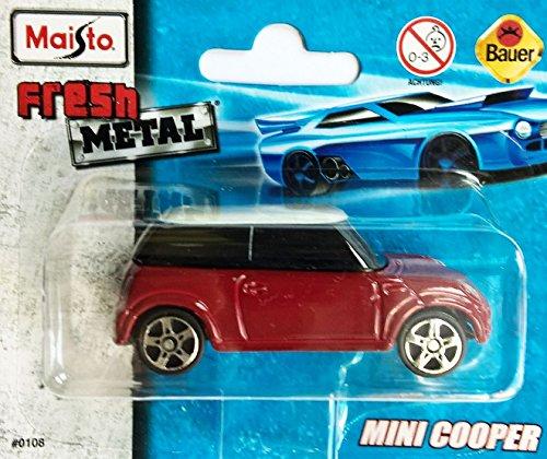 MAISTO® Mini Cooper - 1:64 - rot/weiß (Cooper Maßstab Im Modell Mini)