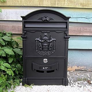 Traditional Aristocratic, Sun Identity Villa Cast Aluminum Mailboxes 49 Colors Available (34 Black)
