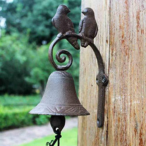 Cq campanello retrò campanello in ferro battuto campanello in ferro battuto campanello manuale giardino campanello anteriore in stile americano