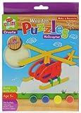 Holz-Hubschrauber 3D Puzzle, machen und Malen Kit
