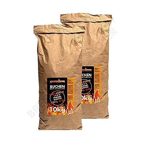Holzkohle Buche für BBQ, Grillkohle groß, 20kg, Buchenholzkohle, Steakhouse Qualität,