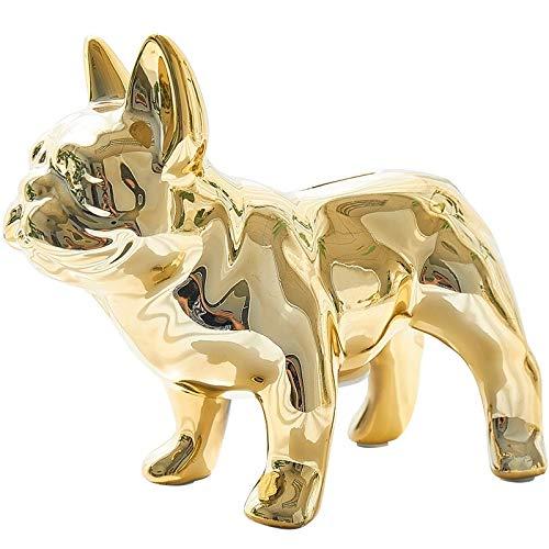 RQWY Ornamente Startseite Bulldog Französisch Keramik Figur Wohnkultur Kleintier Eitelkeit Badezimmer Hochzeit Herzstück Ornament Dekorativ -