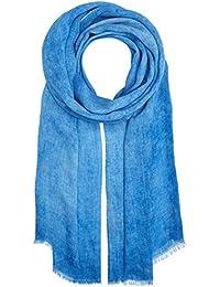edc by Esprit Damen Umschlagtuch 057CA1Q004, Blau (Blue 430), One size (Herstellergröße: 1SIZE)