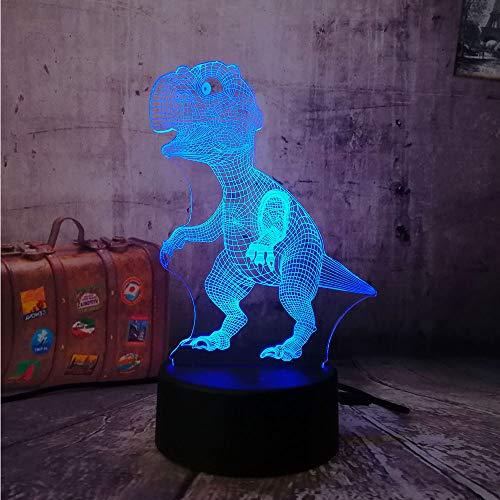 PDDXBB Nette 3D Dinosaurier Birne Junge Kind Geschenk Led Nachtlicht Baby Tisch Touch Lampe Romantische Urlaub 7 Farben Ändern Weihnachtsfeier Geschenk Sieben Farbe 87 * 87 * 43Mm (Fernbedienung) -
