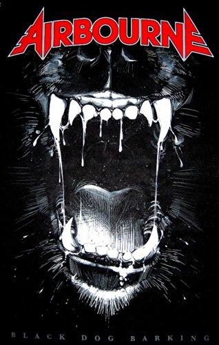 Black Dog Barking Poster tessile