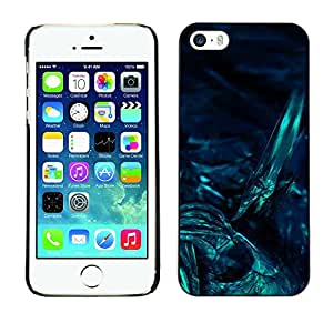 Omega Covers - Snap on Hard Back Case Cover Shell FOR Apple iPhone 5 / 5S - Underwater Dark Art Night Diving