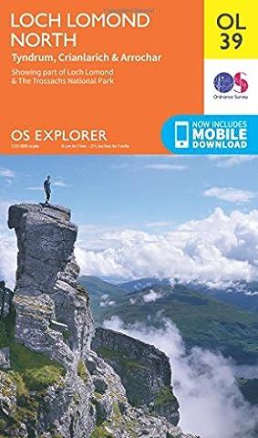 OS Explorer OL39 Loch Lomond North (OS Explorer Map)
