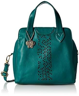 Butterflies Women's Handbag (Olive Green) (BNS 0455OGN)