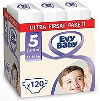 Evy Baby Bebek Bezi 5 Numara Junior Ultra Fırsat Paketi 120 Adet