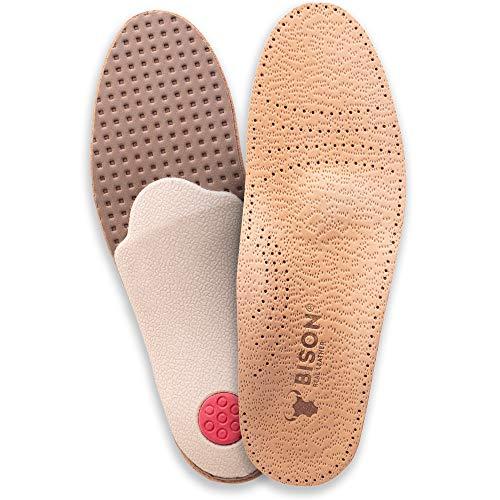 ORTRI Orthopädische Leder Einlegesohlen gegen Schweissfüsse Schuheinlagen/Größe 35-46 (45/46)