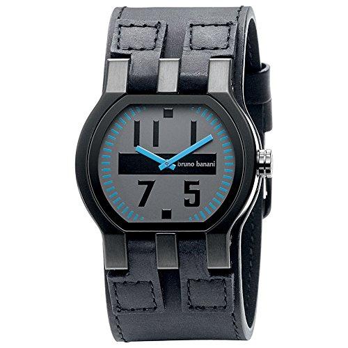 Bruno Banani Men's Quartz Watch Zeno Gents BR20994 with Leather Strap