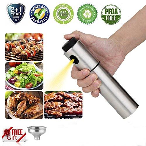 Edelstahl Essig Öl Sprühflasche zum Kochen und Pumpen für Weihnachten Mahlzeit und Salat herstellen inkl. zwei extra Reinigungsbürste und einem Trichter