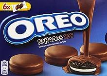 Oreo Baadas - Galletas Cubierto de Chocolate con Leche - 6 bolsas de 2 galletas - [pack de 3]