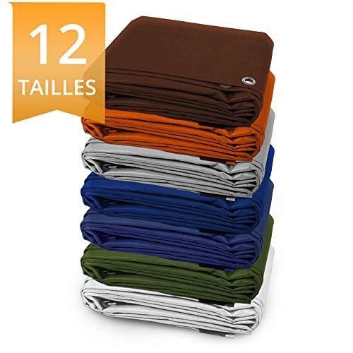 ETM Zeltplane mit Öse | wasserdicht und UV-beständig | reißfest | ideal für Camping | Dichte 180°g/m² | Farben und Größen wählbar, blau