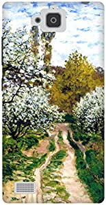 The Racoon Lean Trees in Bloom hard plastic printed back case / cover for Huawei Honor 3C