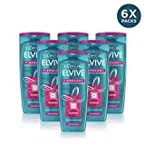 Elvive Fibrology, Shampoo Rinforzante, 400 ml, 6 Pezzi [Versione inglese]