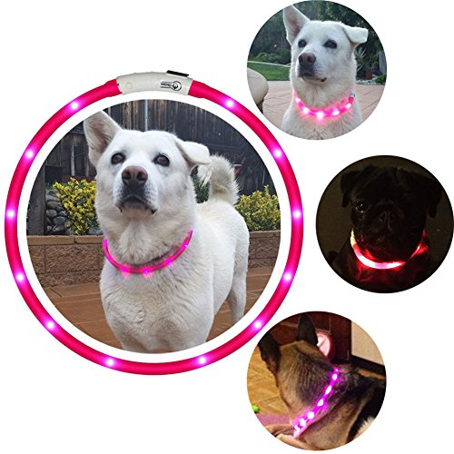 LED-Dog-Collar-USB-Rechargeable-Flashing-Light-Up-Night-Safety-Collar-Soft-Silicone-Waterproof-Length-Adjustable-Pet-Necklace-Collar-Pink