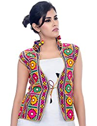 Banjara Women's Poly Cotton Kutchi Waist Jacket