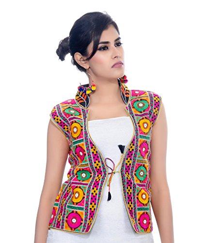 Banjara Women's Jacket (MJK-BHK01_Black_Free Size)