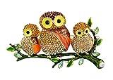 AUTULET Retro Glitzernde Gorgeous Strass entzückendes Baby und Mama Eule Tier Vogel Brosche Pins Geschenke