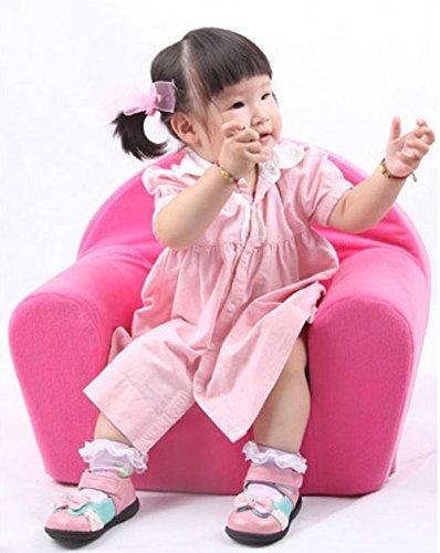 2-er Set Sessel Kinder Kindersessel Couch Hocker für Kinder Princess rosa - 2