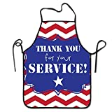 XIUZHIZH Thanksgiving Garden Flags Funny Cooking Kitchen BBQ Apron for Woman and Man Novelty Unisex Apron