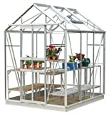 Simplicity Stafford Greenhouse 5ft3 x 6ft3 Plain aluminium with toughened glass