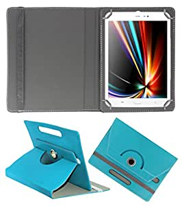 ACM ROTATING 360° LEATHER FLIP CASE FOR IBERRY AUXUS CORE X8 TABLET STAND COVER HOLDER GREENISH BLUE