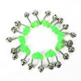 #1: 10 Pcs Fishing Bite Alarms Fishing Rod Bells Rod Clamp Tip Clip Bells Ring Green ABS Fishing Accessory
