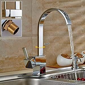 360 miscelatore rubinetto cucina auralum alta qualit - Miscelatore cucina perde acqua ...