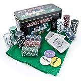 Juego de póquer Texas Hold´em 200 fichas Set en caja de metal Póker