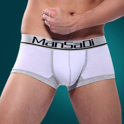 Herren Boxershorts Men's Underwear aus softe Modal Herren Unterhosen Herren Retroshorts Unterwäsche Pants Weiß