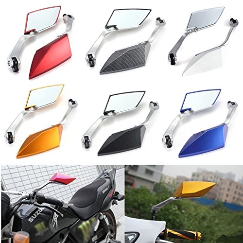 Viviance 8Mm 10Mm Universal Motorcycle Rear View Side Mirrors - Rot